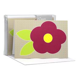 Shop Blank Notecard | Cute Flower Purple