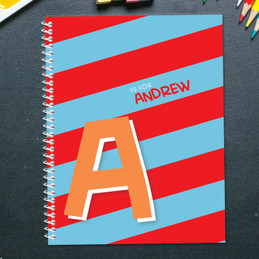 Brilliant Initial Red Kids Notebook