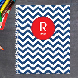 Chevron Navy and Red Kids Notebook