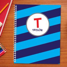 Fun Initials Blue Kids Notebook