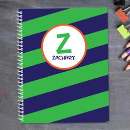Fun Initials Green Kids Notebook