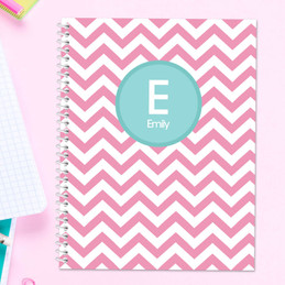 Pink & Aqua Chevron Kids Notebook