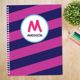 Fun Initials Magenta Kids Notebook