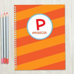 Fun Initials Orange Kids Notebook
