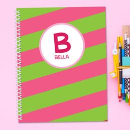 Fun Initials Pink Kids Notebook