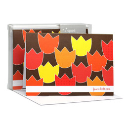 Fantastic Thank You Note Cards   Tulip Bunch Red