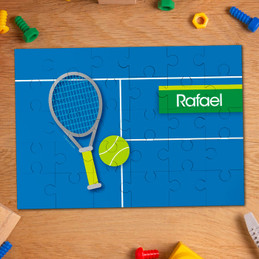 Tennis Fan personalized puzzles for toddlers