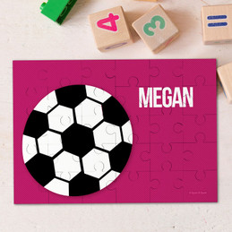Purple Soccer Fan Personalized Puzzles By Spark & Spark