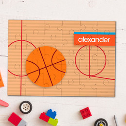 Basketball Fan Boy Personalized Puzzles