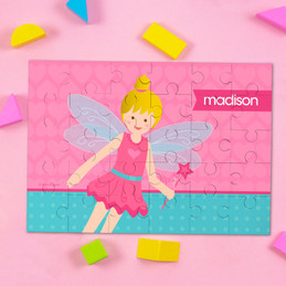 Blonde Fairy Girl Personalized Puzzles By Spark & Spark