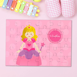 Cute Blonde Princess Personalized Puzzles By Spark & Spark