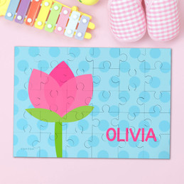 Cute Tulip Personalized Name Puzzle By Spark & Spark