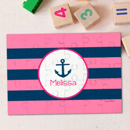 Let'S Sail (Pink) Personalized Puzzles By Spark & Spark
