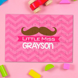 Little Miss Mustache Personalized Puzzle By Spark & Spark