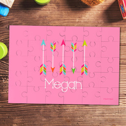 Colorful Arrows Personalized Puzzles By Spark & Spark