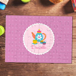 Tea Time Personalized Kids Puzzles By Spark & Spark