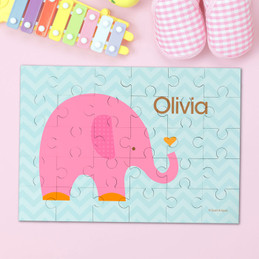 Sweet Pink Elephant Personalized Puzzles By Spark & Spark