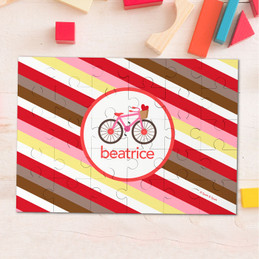 A Valentine Bycicle Personalized Puzzles By Spark & Spark