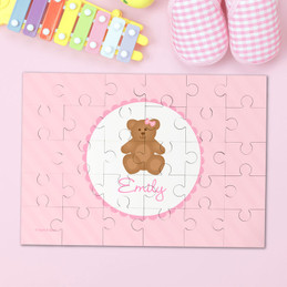 A Sweet Pink Teddy Bear Personalized Puzzle By Spark & Spark