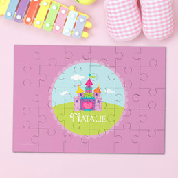 Pretty Heart Castle Personalized Kids Puzzles By Spark & Spark