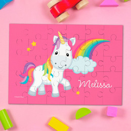 Rainbow Unicorn Personalized Name Puzzle By Spark & Spark