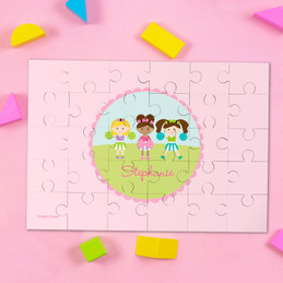 Three Cheerleaders Personalized Kids Puzzles By Spark & Spark