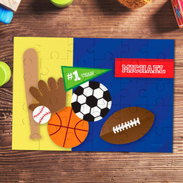 My Love For Sports Personalized Puzzles