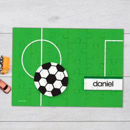Soccer Fan Green Personalized Puzzles