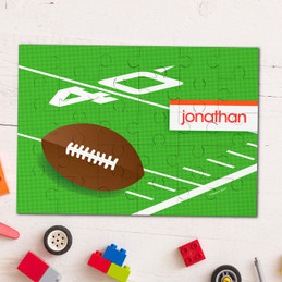 Football Fan personalized name puzzle