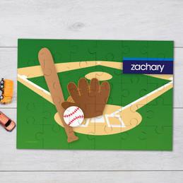 Baseball Fan personalized puzzles