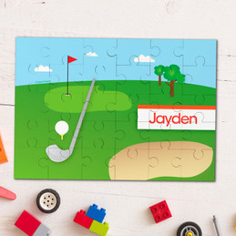 My Love For Golf Personalized Puzzles