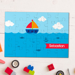 Sailing The Blue Ocean personalized kids puzzles
