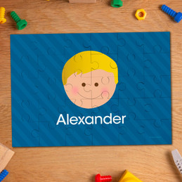 Just Like Me Boy Blue Personalized Puzzles