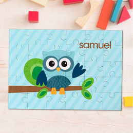 Owl be yours Blue personalized puzzles