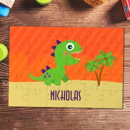Baby dinosaur kids name puzzle