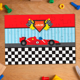Fast race personalized name puzzle