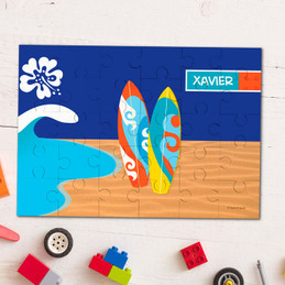 Surf the waves personalized puzzles
