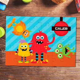Monster attack Personalized Puzzles