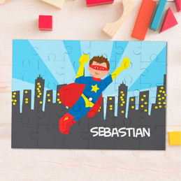 A Cool Superhero Personalized Puzzles