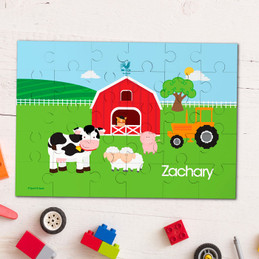 A day in the farm personalized name puzzle