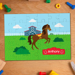 Cute race horse personalized puzzles