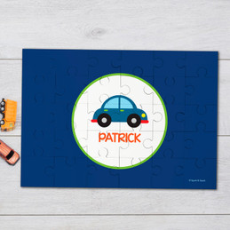 Cute little car personalized name puzzle