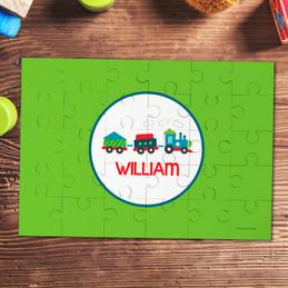 Choo Choo train personalized puzzles