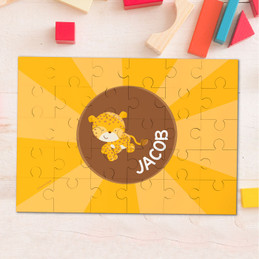 Cute baby cheetah personalized puzzles
