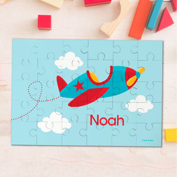 Fly little plane personalized kids puzzles