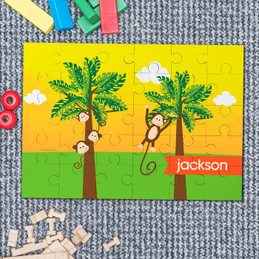 Monkeys in the jungle Personalized Puzzles