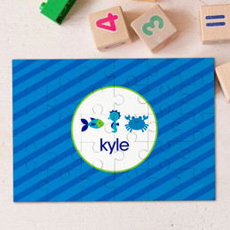 Cute undersea creatures Personalized Puzzles