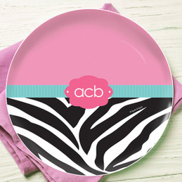 Zebra and pink Kids Dinnerware