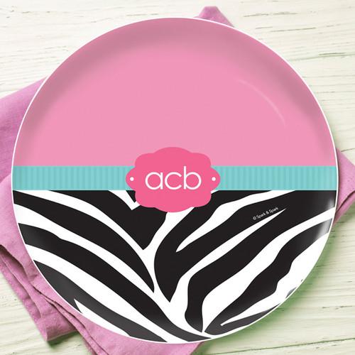 Zebra and pink Kids Dinnerware