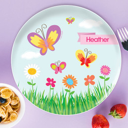 A Butterfly Field Kids Plates & Cute Personalized Kids Plates For Toddlers by Spark \u0026 Spark